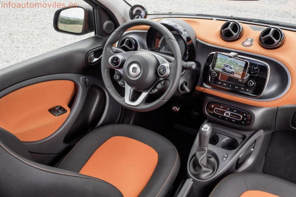 Interior nuevos Smart Fortwo y Smart Forfour